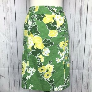 Talbots Womens Floral Textured Straight Skirt 18